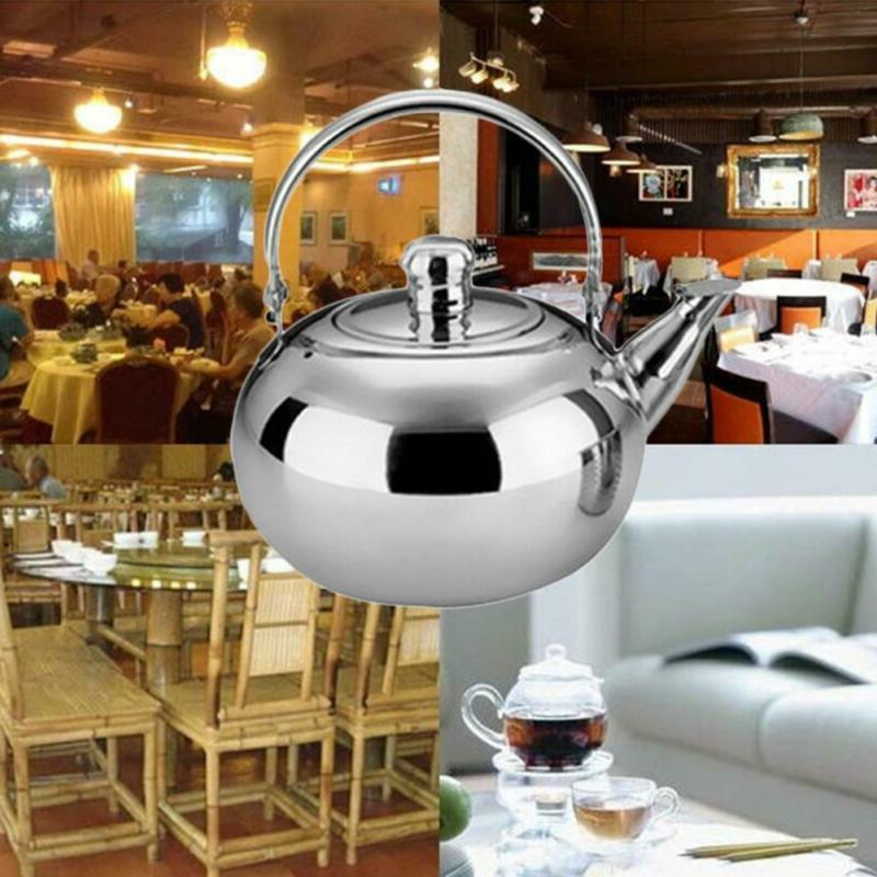 Tea Kettle Stainless Strainer Teapot Stove Top Coffee