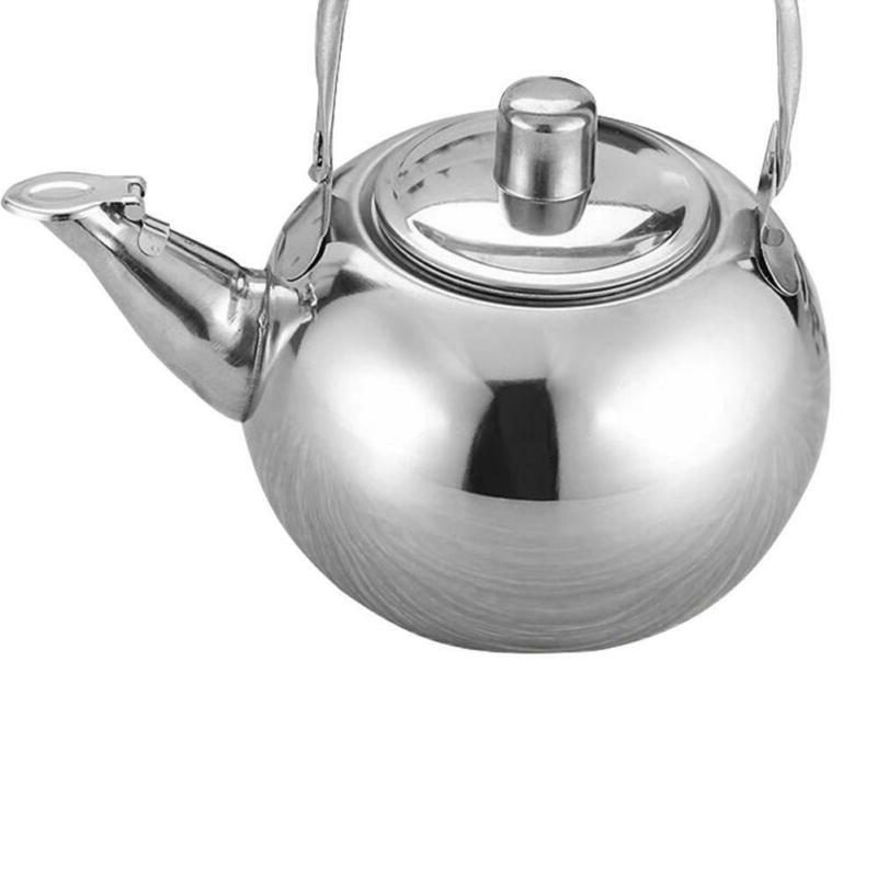 Tea Kettle Stainless Steel Strainer Teapot Stove Top Coffee