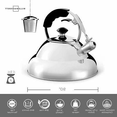 Tea Kettle Stainless Whistling Teapot Tea Infuser