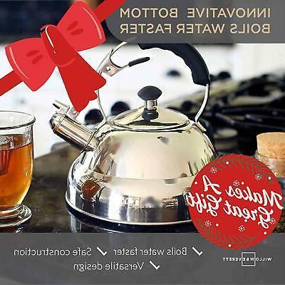 Tea Stainless Steel Whistling Teapot Tea Maker Infuser Strainer