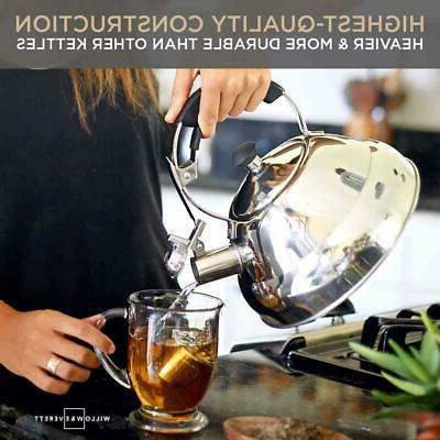 tea kettle stainless steel whistling teapot tea