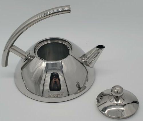 teabox bevel stainless steel tea kettle