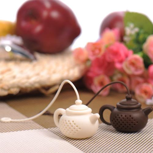 teapot shape tea infuser strainer silicone tea