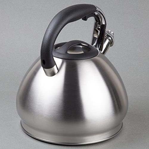 Creative Home Triumph quart Stainless Tea with Capsulated Brushed Silver