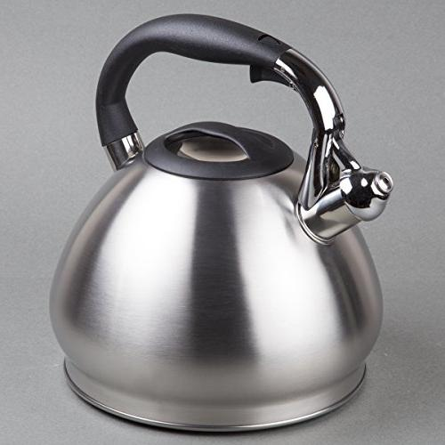 Creative Home Triumph quart Tea Capsulated Bottom, Silver
