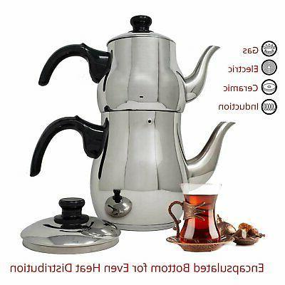 Turkish Tea Pot Kettle Strainer Style and...