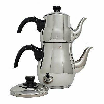 turkish double tea pot kettle water boiler