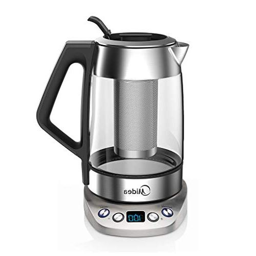 Midea Kettle -Fast Boil Glass(1.7 L) Variable Control-Tea Infuser-Borosilicate Shut-off