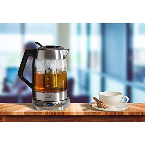 Midea Cordless -Fast Boil Tea Kettle, Control-Tea Glass -Auto Shut-off
