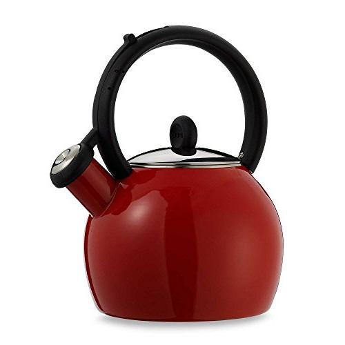 vienna red porcelain enamel tea
