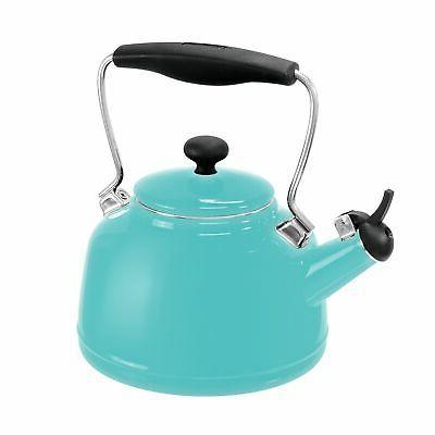 Chantal Vintage Tea Kettle Enamel on Steel - Aqua Blue