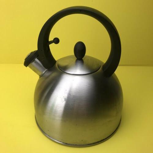 Vintage COPCO Tea Kettle Teapot Shiny Steel Retro