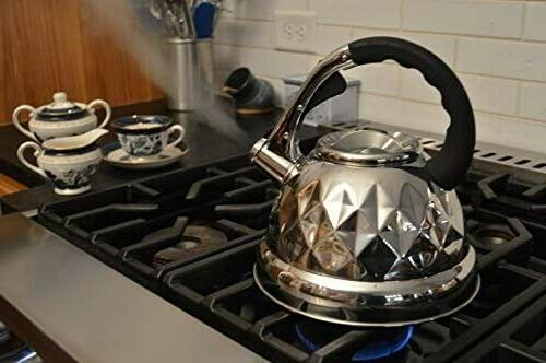 Whistling Tea Kettle 3qt Stainless Steel Perfect for Tea & C