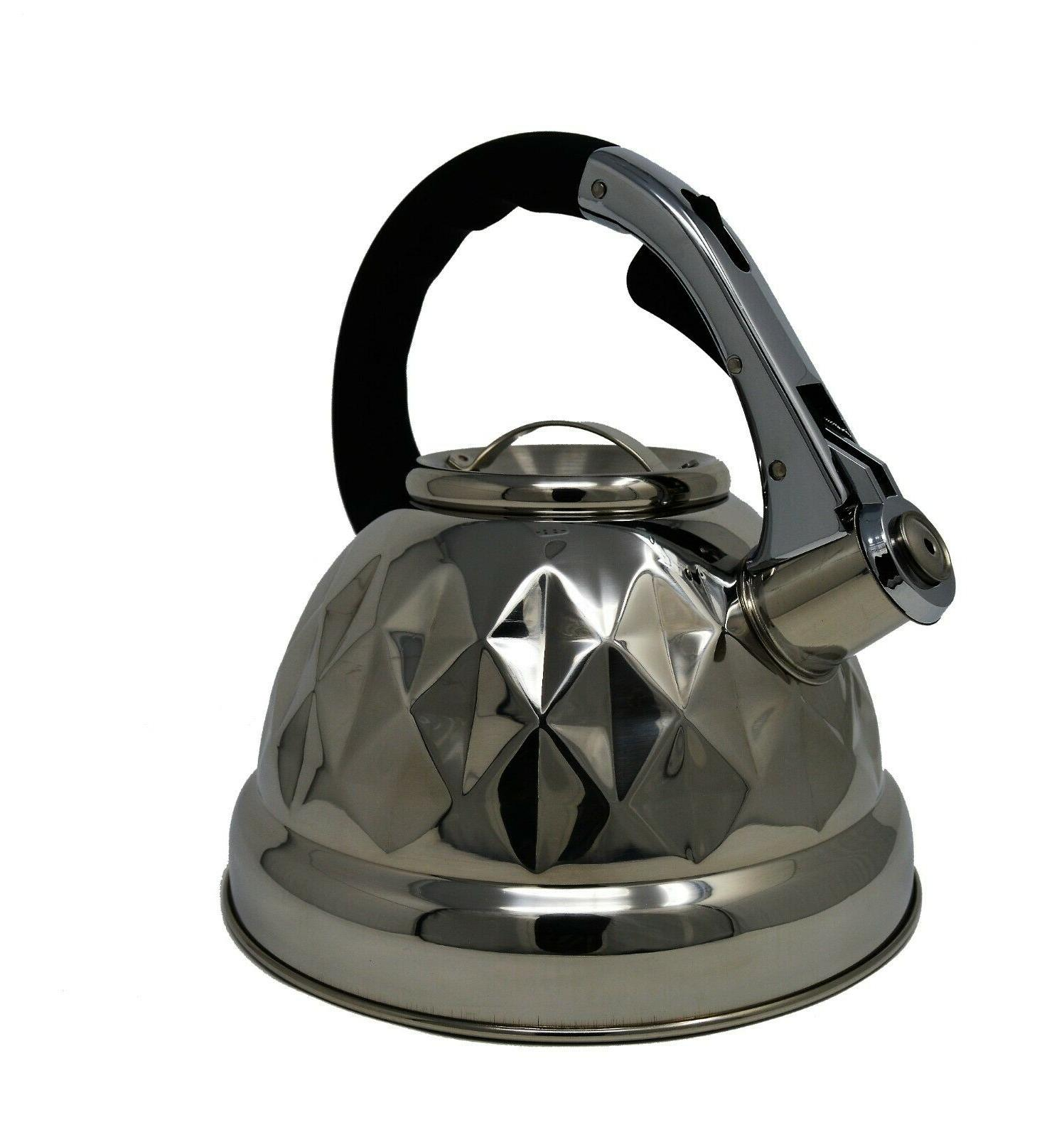 Whistling Tea Kettle 3qt Tea BLK Ha