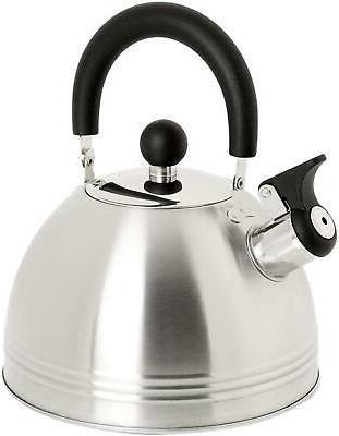 whistling tea kettle 1 5 quart stainless