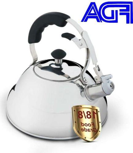 whistling tea kettle 2 6 l stovetop