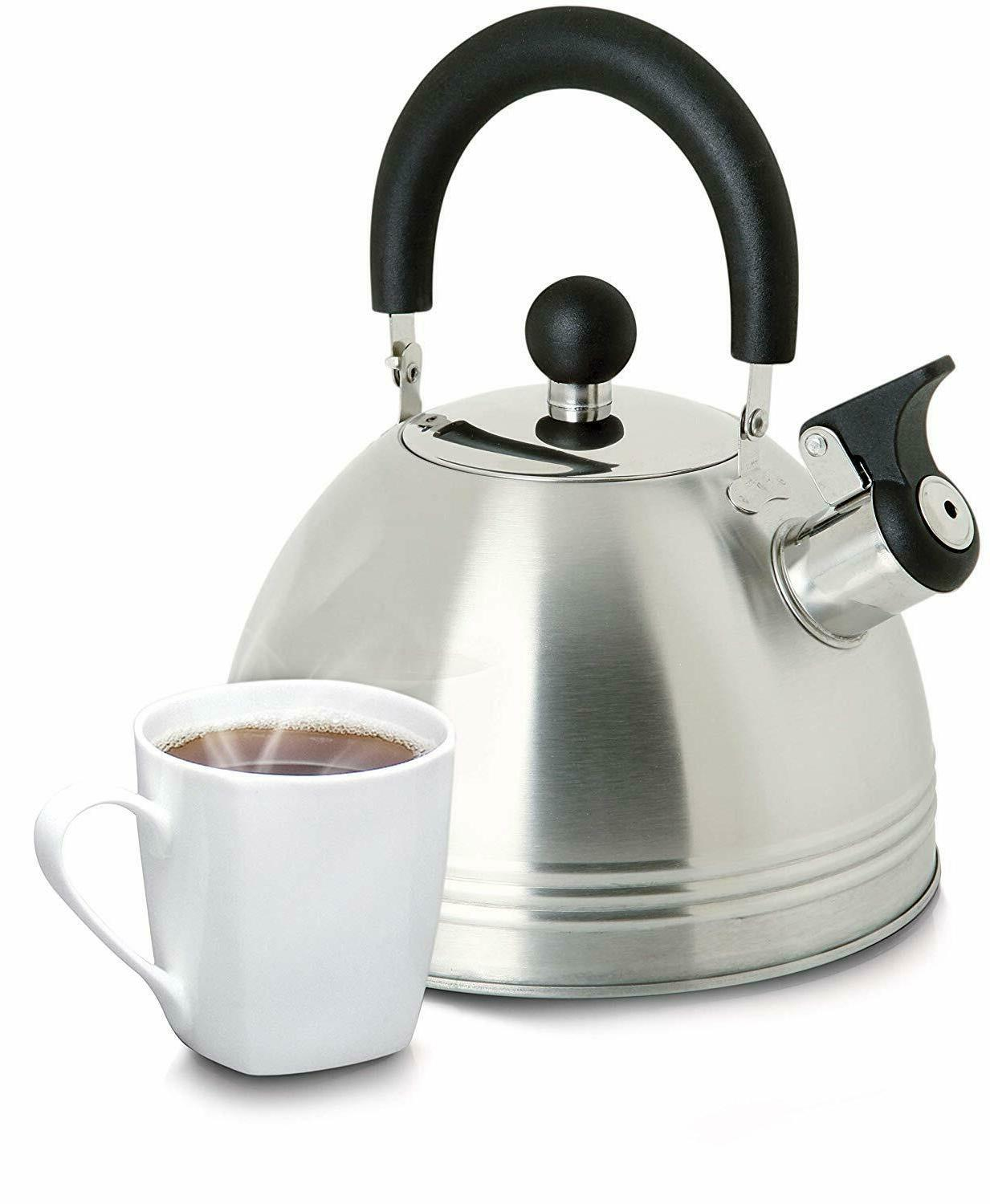 Whistling Kettle Coffee Tea Maker 1.5 Stainless