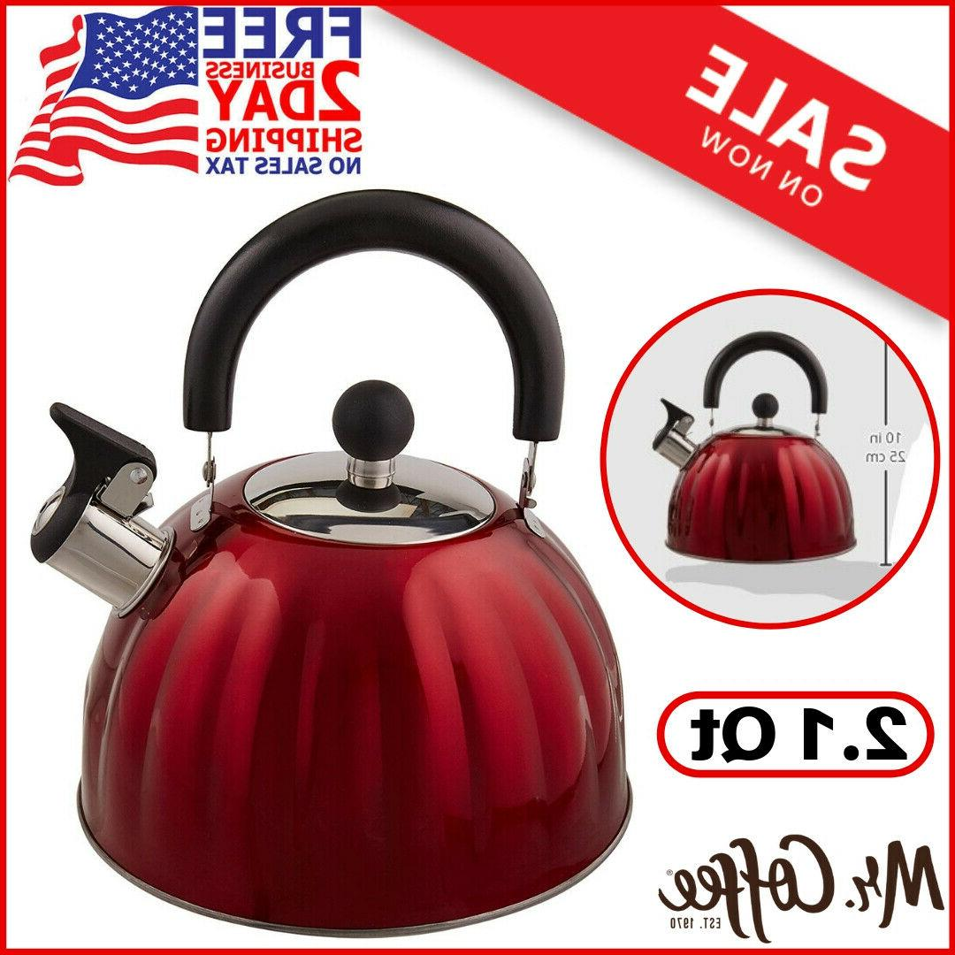 Whistling Stainless Steel Red