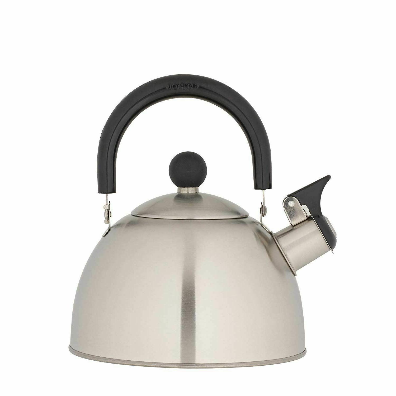 whistling tea kettle stainless steel stovetop teapot