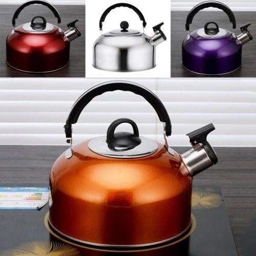 Stainless Steel Whistling Tea Kettle Teapot for Stove Top Fa