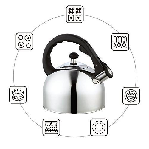 Homeinart Whistling Tea Kettle Stainless 2.6 QT