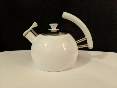 white enamel tea kettle w lid please
