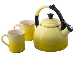 Le Creuset Peruh 1.7qt Tea Kettle & Mug - Soleil