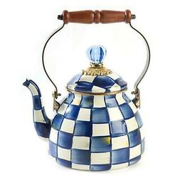 MacKenzie-Childs Royal Check Tea Kettle - 2 Quart