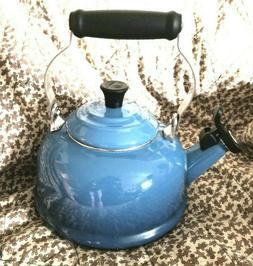 Le Creuset Marseille Blue Classic whistling tea kettle 1.7 Q