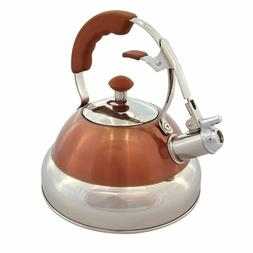 MEMBER'S MARK 2.7 QT. STAINLESS-STEEL TEA KETTLE  COLOR: COP