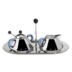 Alessi Michael Graves Creamer and Sugar Bowl w/ Tray Set