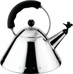 Alessi Michael Graves Stainless Steel Kettle Bird Shaped Whi