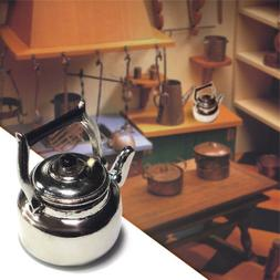 Mini Kitchen Metal Tea Kettle Model Miniature DIY Dollhouse