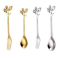 PinnacleT1 Mini Spoons Forks Set,Premium Stainless Steel Ice