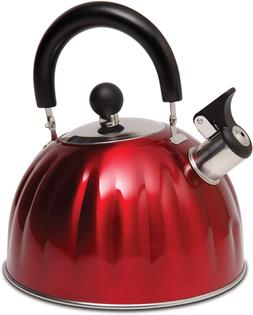 Whistling Tea Kettle Stainless Steel StoveTop Teapot Round R