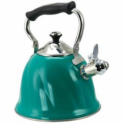 Mr Coffee Alberton 2.3 Quart Stainless Steel Green Whistling