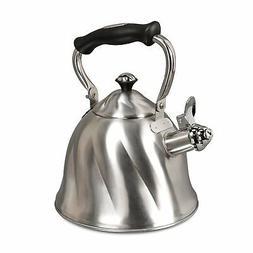 Mr. Coffee Alderton Stainless Steel 2.3-Quart Whistling Tea