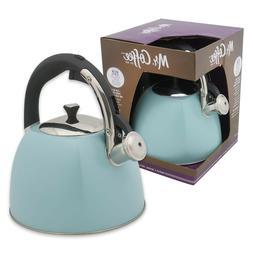 Mr. Coffee Belgrove 2.5 Quart Stainless Steel Whistling Tea