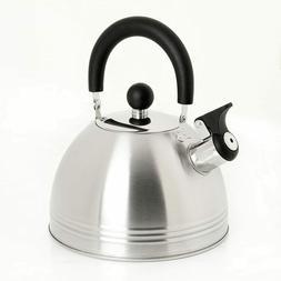 Mr. Coffee Carterton Stainless Steel Whistling Tea , 1.5-Qua