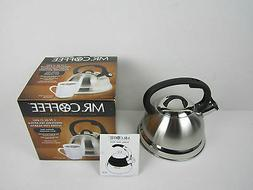 Mr. Coffee Flintshire Stainless Steel Whistling Tea Kettle,