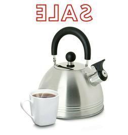 Mr Coffee Stainless Steel Whistling Tea Kettle 1.5-Quart Sto