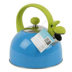 New 205079  Gibson Stainless Steel Blue 1.5Qt Tea Kettle  Co