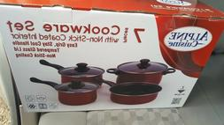 NEW Alpine Cuisine 7 Pieces Cookware set with Non-Stick Coat