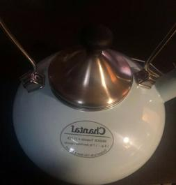 *NEW* Aqua Enamel on Steel Chantal BRIDGE Teakettle 1.8 Qt W