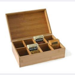 New Lipper International Bamboo Wood Tea Storage Box Chest O