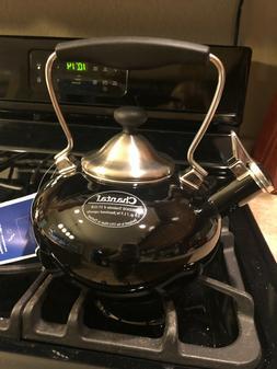 NEW! Black Tea Kettle Pot Chantal Bridge 1.8 Quarts Whistlin