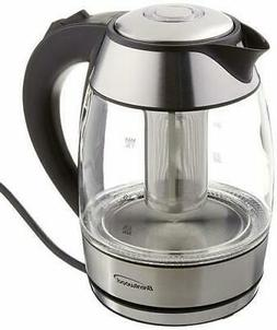 NEW Brentwood Borosilicate Glass Tea Kettle with Infuser
