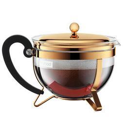 NEW Bodum Chambord Classic Teapot Gold 1.3L