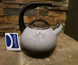 *NEW* Grey 2 Tone Enamel Steel Chantal ANNIVERSARY Teakettle
