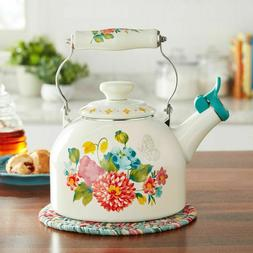 NEW! The Pioneer Woman Blooming Bouquet 2 Quart Whistling Te